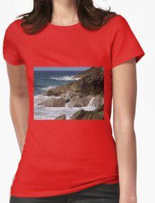 Rocky waterfalls of St. Maarten Womens Fitted T-Shirt
