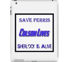 Ferris Colson Sherlock Geek Support iPad Case/Skin