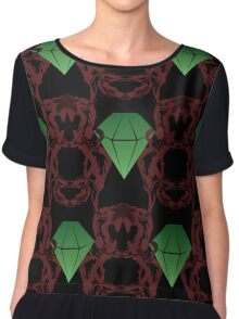 Emeralds & Demons [BLACK] Women's Chiffon Top