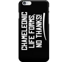 Chameleonic life forms - Dark iPhone Case/Skin