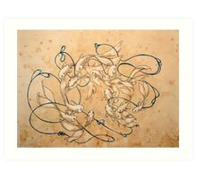 Twirl and Loop Art Print