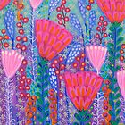 Flowers and Butterflies in Spring Time by Sonia Koch
