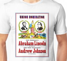 """UNION NOMINATION"" Lincoln for President Print Unisex T-Shirt"