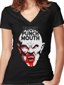 Fruit Punch Mouth Women's Fitted V-Neck T-Shirt