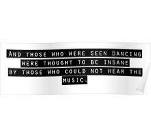 Nietzsche quote Poster