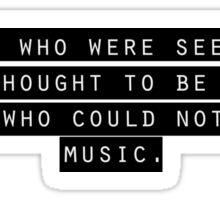 Nietzsche quote Sticker