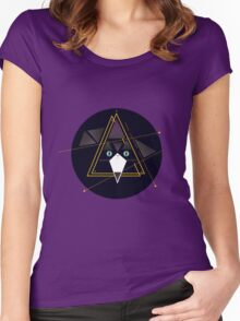Mr Pippin, the abstract cat Women's Fitted Scoop T-Shirt
