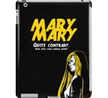 Mary, Mary, Quite Contrary (Panel 2 of 3) iPad Case/Skin