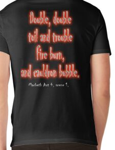 MACBETH, Play, Theater, Double, Double Toil & Trouble, Bubble, Witches, Shakespeare, Mens V-Neck T-Shirt