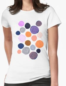 big chrysanthemum dots Womens Fitted T-Shirt
