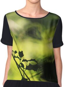 Tunnel of Light - Holly Wood Bokeh Chiffon Top
