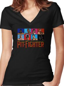 PIT FIGHTER - BAD GUYS - ARCADE GAME Women's Fitted V-Neck T-Shirt