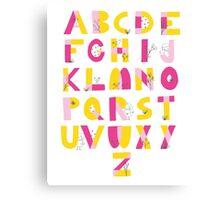 Hide and Seek Alphabet print Canvas Print