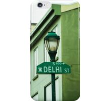 Delhi Road Sign, Philadelphia iPhone Case/Skin