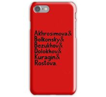 War and Peace and Ampersand - Black Text iPhone Case/Skin