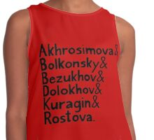 War and Peace and Ampersand - Black Text Contrast Tank