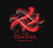 Clan MacIver - Prefer your gift on Black/White tell us at info@tangledtartan.com  Unisex T-Shirt