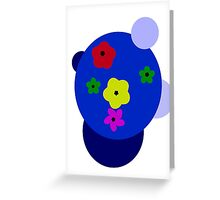 Bubble Flowers Greeting Card