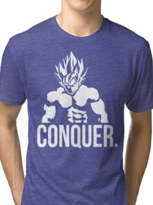 CONQUER - Goku as Mr. Olympia Tri-blend T-Shirt