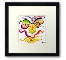 A Run of Color Framed Print