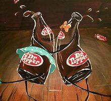 Swing Dancing Dr. Pepper Bottles by AmandaRuthArt
