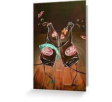 Swing Dancing Dr. Pepper Bottles Greeting Card
