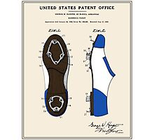 Baseball Cleat Patent Photographic Print