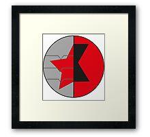 James/Natasha symbol Framed Print