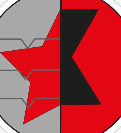 James/Natasha symbol Sticker