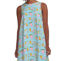 Watermeloncholy and the infinite pizza  A-Line Dress