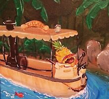 Screaming Pineapple Jungle Cruise Skipper by AmandaRuthArt