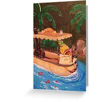 Screaming Pineapple Jungle Cruise Skipper Greeting Card