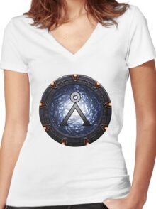 Home Gate Women's Fitted V-Neck T-Shirt