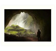 Fantasy Cave Art Print