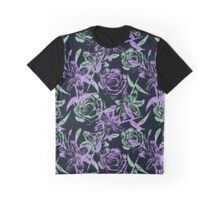 pattern of roses and lilies Graphic T-Shirt