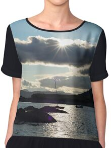 wild atlantic way ireland with a cold sunset Chiffon Top