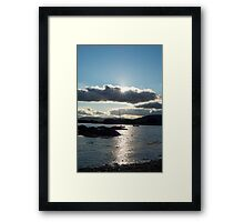 wild atlantic way ireland with a cold sunset Framed Print