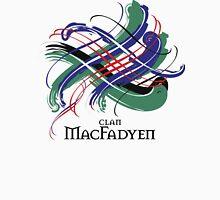 Clan MacFadyen - Prefer your gift on Black/White tell us at info@tangledtartan.com  Unisex T-Shirt