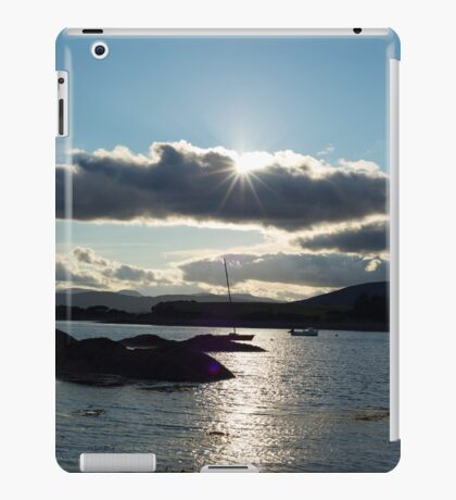 wild atlantic way ireland with a cold sunset iPad Case/Skin