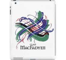Clan MacFadyen - Prefer your gift on Black/White tell us at info@tangledtartan.com  iPad Case/Skin