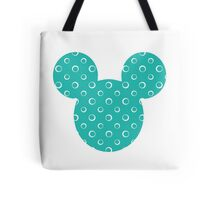 Mouse Turquoise Patterned Silhouette Tote Bag