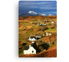 Tarskavaig Crofting Village, Isle of Skye, Scotland. Canvas Print