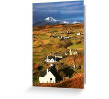 Tarskavaig Crofting Village, Isle of Skye, Scotland. Greeting Card
