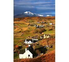Tarskavaig Crofting Village, Isle of Skye, Scotland. Photographic Print