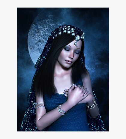 Praying Moon Goddess Photographic Print