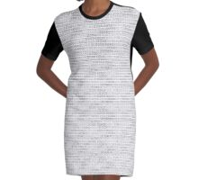 XOXO - Black and White Graphic T-Shirt Dress