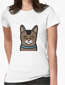Bored Cat Womens Fitted T-Shirt