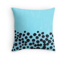 Bubble Tea - Blue Throw Pillow