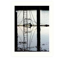 Reflections below the Jetty Art Print