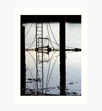 Reflections below the Jetty Art Print